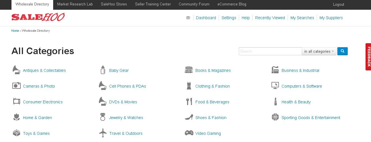 salehoo-categories