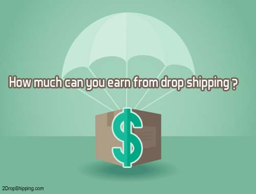 How much can you earn from drop shipping